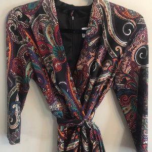 Faux Wrap Ladies Dress Size 8 NWT
